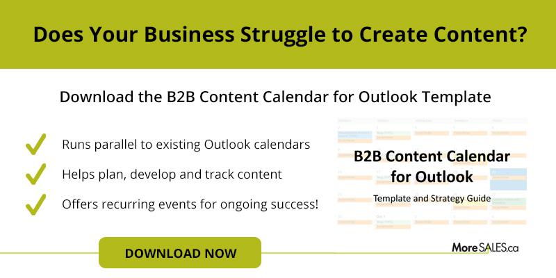 B2B Content Calendar for Outlook