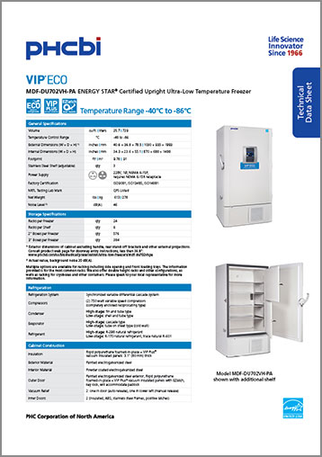 MDF-DU702VH-PA Technical Sheet