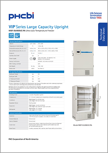 MDF-DU900VC-PA Technical Sheet