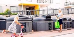 large trash bins